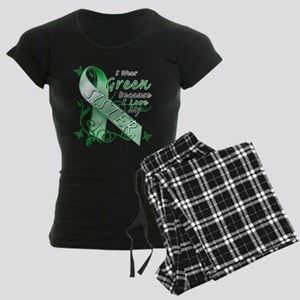 I Wear Green I Love My Sister Women's Dark Pajamas