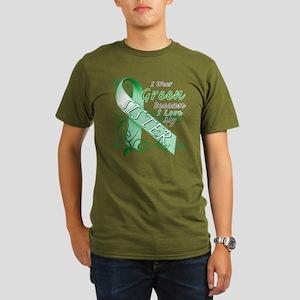 I Wear Green I Love My Sister Organic Men's T-Shir