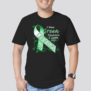 I Wear Green I Love My Sister Men's Fitted T-Shirt