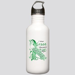 I Wear Green I Love My Mom Stainless Water Bottle