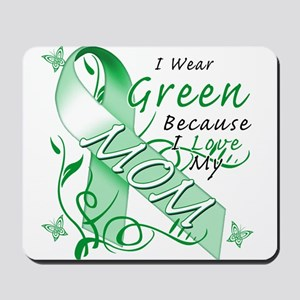 I Wear Green I Love My Mom Mousepad