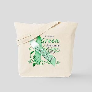I Wear Green I Love My Mom Tote Bag