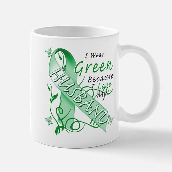 I Wear Green I Love My Husban Mug