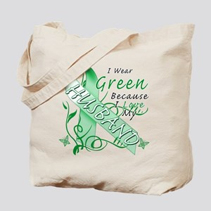 I Wear Green I Love My Husban Tote Bag