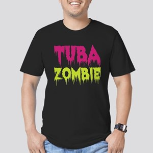 Tuba Zombie Men's Fitted T-Shirt (dark)