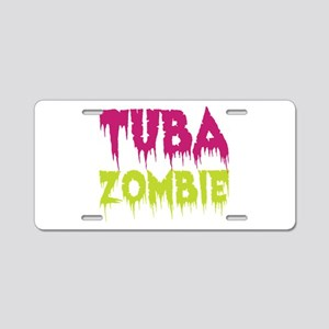 Tuba Zombie Aluminum License Plate