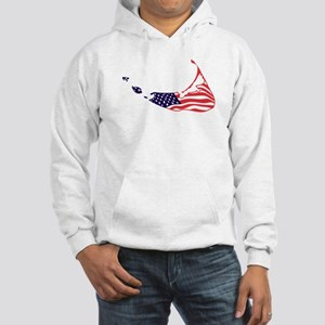 Nantucket Island MA - Map Design Hooded Sweatshirt