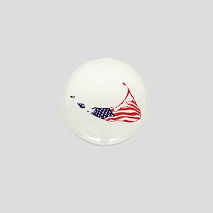 Nantucket Island MA - Map Design Mini Button