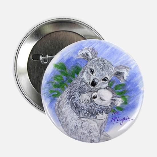"Mum & baby Koalas 2.25"" Button"