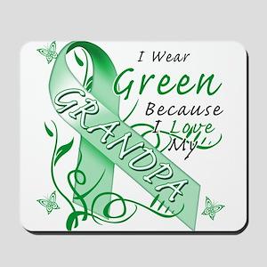 I Wear Green I Love My Grandp Mousepad