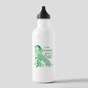 I Wear Green I Love My Daught Stainless Water Bott