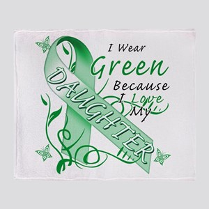 I Wear Green I Love My Daught Throw Blanket
