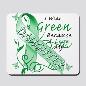 I Wear Green I Love My Daught Mousepad