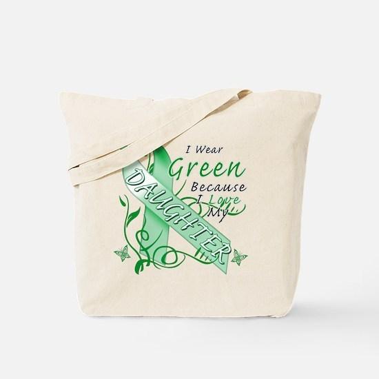 I Wear Green I Love My Daught Tote Bag