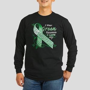I Wear Green I Love My Daught Long Sleeve Dark T-S