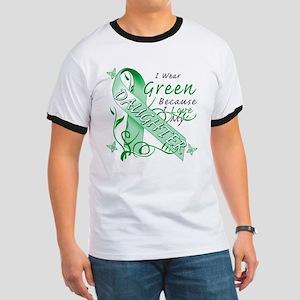 I Wear Green I Love My Daught Ringer T