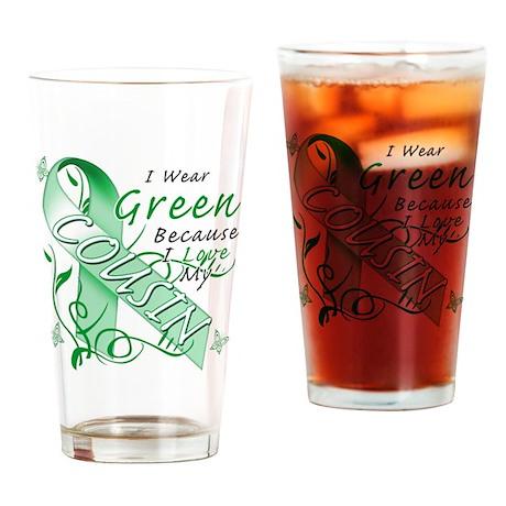 I Wear Green I Love My Cousin Drinking Glass