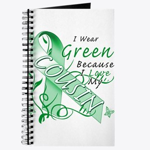 I Wear Green I Love My Cousin Journal