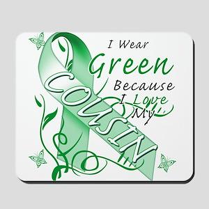 I Wear Green I Love My Cousin Mousepad