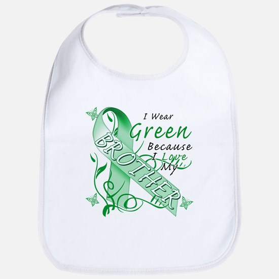 I Wear Green I Love My Brothe Bib