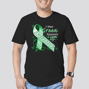 I Wear Green I Love My Brothe Men's Fitted T-Shirt