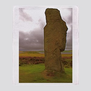 Orkney Standing Stone Throw Blanket