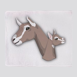 Toggenburg Goat Throw Blanket