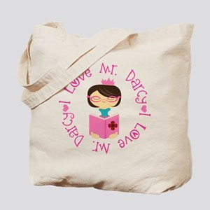 I Love Mr. Darcy Book Tote Bag