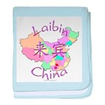 Laibin China Map baby blanket