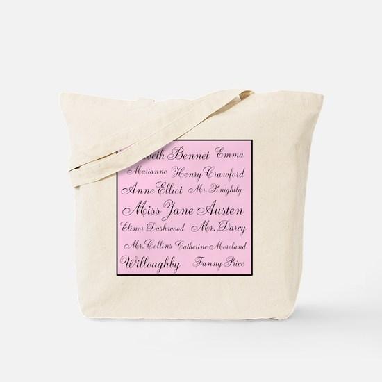 Jane Austen (pink) Tote Bag