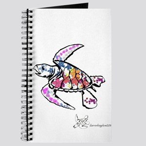 Sea Turtle with Flowers Journal
