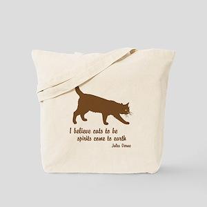 Jules Verne Cats Tote Bag