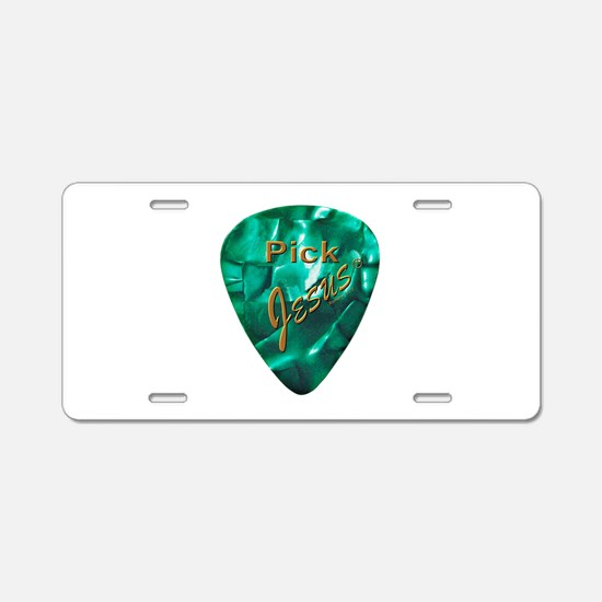 Pick Jesus Aluminum License Plate
