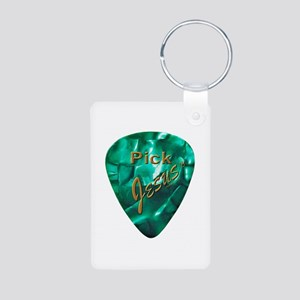 Pick Jesus Aluminum Photo Keychain