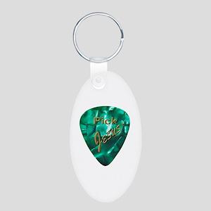 Pick Jesus Aluminum Oval Keychain