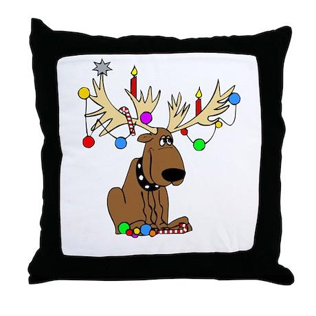 Reindeer Dog Throw Pillow