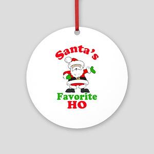 Santa's Favorite Ho Ornament (Round)