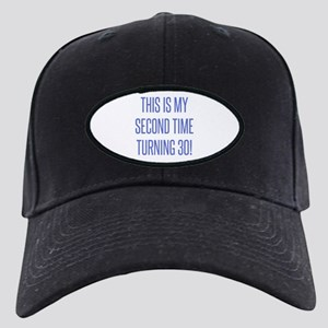 60th Birthday Gag Gift Black Cap with Patch