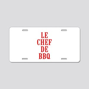 Le Chef De BBQ Aluminum License Plate