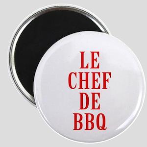 Le Chef De BBQ Magnets