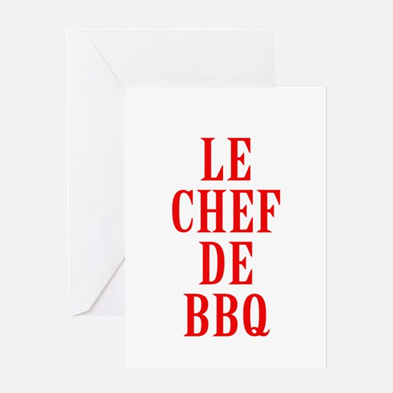 Le Chef De BBQ Greeting Cards
