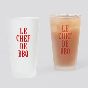 Le Chef De BBQ Drinking Glass