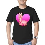 Alpaca Men's Fitted T-Shirt (dark)