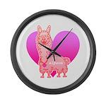 Alpaca Large Wall Clock