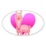 Alpaca Sticker (Oval 10 pk)