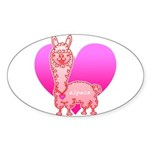 Alpaca Sticker (Oval 50 pk)