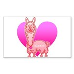 Alpaca Sticker (Rectangle 10 pk)