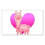 Alpaca Sticker (Rectangle 50 pk)