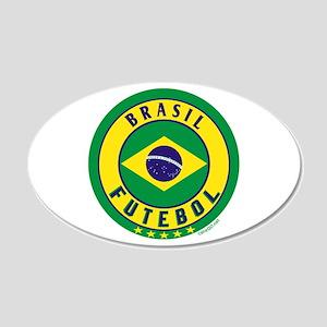 Brasil Futebol/Brazil Soccer 22x14 Oval Wall Peel