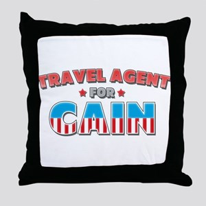 Travel agent for Cain Throw Pillow